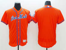 mens majestic new york mets blank red Flex Base jersey