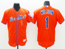 mens majestic new york mets #1 mookie wilson red Flex Base jersey