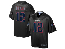 Mens Nfl New England Patriots #12 Tom Brady Pro Line Black Reverse Fashion Jersey