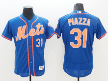 mens majestic new york mets #31 mike piazza blue Flex Base jersey