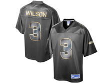 Mens Nfl Seattle Seahawks #3 Russell Wilson Pro Line Black Gold Collection Jersey
