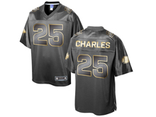 Mens Nfl Kansas City Chiefs #25 Jamaal Charles Pro Line Black Gold Collection Jersey