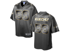 Mens Nfl Carolina Panthers #59 Luke Kuechly Pro Line Black Gold Collection Jersey