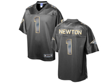 Mens Nfl Carolina Panthers #1 Cam Newton Pro Line Black Gold Collection Jersey