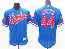 mens majestic chicago cubs #44 anthony rizzo 1994 turn back blue Flex Base jersey