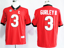 Mens Ncaa Nfl Georgia Bulldogs #3 Todd Gurley Ii Red Jersey