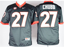 Mens Ncaa Nfl Georgia Bulldogs #27 Nick Chubb Black Jersey