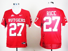 Mens Ncaa Nfl Rutgers Scarlet Knights #27 Ray Rice Red Jersey Gz