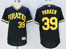 mens majestic pittsburgh pirates #39 dave parker black pullove Flex Base jersey