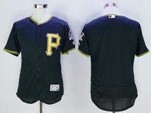mens majestic pittsburgh pirates blank black Flex Base jersey