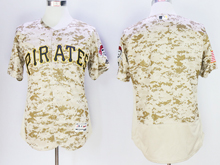 mens majestic pittsburgh pirates blank cole camouflage painting Flex Base jersey