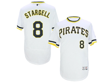 mens majestic pittsburgh pirates #8 willie stargell white pullove Flex Base jersey