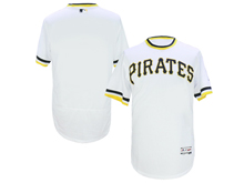 mens majestic pittsburgh pirates blank white pullove Flex Base jersey