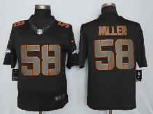 Mens Nfl New   Denver Broncos #58 Von Miller Black Impact Limited Jerseys