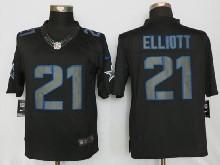 Mens Nfl New   Dallas Cowboys #21 Ezekiel Elliott Black Impact Limited Jersey