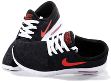 Men Sb Stefan Janoski Max Running Shoes  Black And Red Color