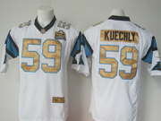 Mens   Nfl Carolina Panthers #59 Luke Kuechly White Super Bowl 50 Bound Game Jersey