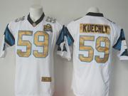 Mens   Nfl Carolina Panthers #59 Luke Kuechly White Super Bowl 50 Bound Game Jersey