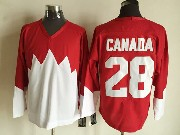 Mens nhl team canada #28 (blank) white 1972 vintage throwbacks Jersey