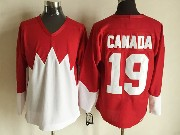 Mens nhl team canada #19 (blank) white 1972 vintage throwbacks Jersey