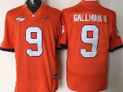 Mens Ncaa Nfl Clemson Tigers #9 Gallman Ii Orange Jersey