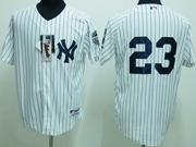 Mens MLB New York Yankees #23 Mattingly WHITE JERSEY
