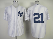 Mens Mlb New York Yankees #21 Oneill White Cool Base Jersey