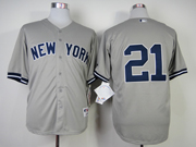 Mens Mlb New York Yankees #21 Oneill Gray Jersey