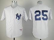 Mens Mlb New York Yankees #25 Mark Teixeira White Jersey