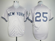 Mens Mlb New York Yankees #25 Mark Teixeira Gray Jersey