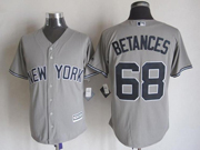 Mens Majestic New York Yankees #68 Dellin Betances Gray Cool Base Jersey