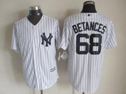 Mens Majestic New York Yankees #68 Dellin Betances White Cool Base Jersey