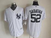 Mens Majestic New York Yankees #52 Cc Sabathia White Cool Base Jersey