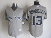 Mens Majestic New York Yankees #13 Alex Rodriguez Gray Cool Base Jersey