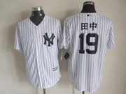 Mens Majestic New York Yankees #19 Masahiro Tanaka White Cool Base Jersey