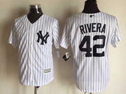 Mens Majestic New York Yankees #42 Mariano Rivera White Cool Base Jersey