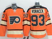 Mens Reebok Nhl Philadelphia Flyers #93 Jakub Voracek Orange Alternate Premier Jersey