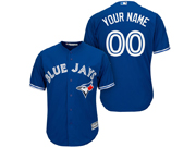 Mens Women Youth Majestic Toronto Blue Jays (custom Made) Blue Cool Base Jersey