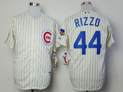 Mens Mlb Chicago Cubs #44 Rizzo 1969 Turn Back The Clock Cream Blue Stripe Jersey