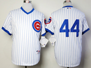 Mens Mlb Chicago Cubs #44 Rizzo 1988 Turn Back The Clock White Jersey(blue Stripe No Name)