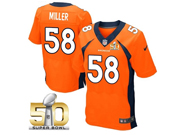 Mens Nfl Denver Broncos #58 Von Miller Orange Super Bowl 50 Bound Elite Jersey