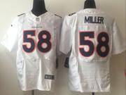 mens nfl Denver Broncos #58 Von Miller white elite jersey