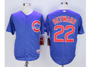 Mens Majestic Mlb Chicago Cubs #22 Jason Heyward Blue Jersey