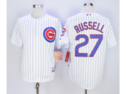 Mens Mlb Chicago Cubs #27 Addison Russell White Jersey