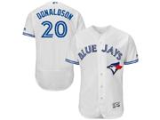 mens majestic toronto blue jays #20 josh donaldson white Flex Base jersey