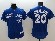 mens majestic toronto blue jays #20 josh donaldson blue Flex Base jersey