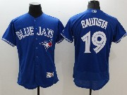 mens majestic toronto blue jays #19 jose bautista blue Flex Base jersey