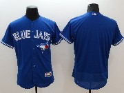 mens majestic toronto blue jays blank blue Flex Base authentic collection jersey