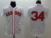 mens majestic boston red sox #34 david ortiz white Flex Base jersey