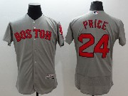 mens majestic boston red sox #24 david price gray Flex Base jersey
